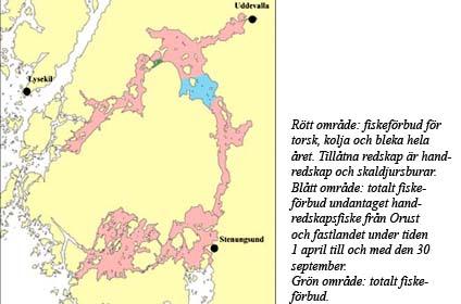 Karta över fiskeförbud