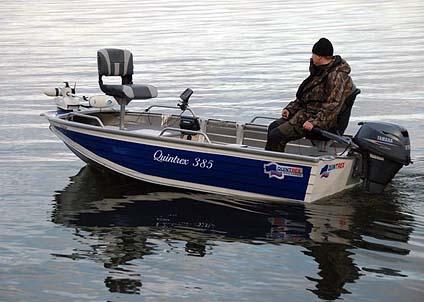 Flera av modellerna i Quintrex program är speciellt anpassade för sportfiske.