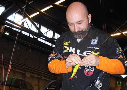 Nya, heta metoder  – och franska finesser utlovar Frédéric Jullian på Sportfiskemässan.