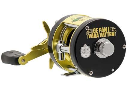 """Ambassadeur RAW Rocket, med """"Ge fan-logga, kommer ut på marknaden lagom till Sportfiskemässan."""