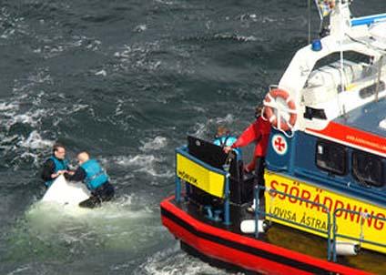 Det behöver inte vara så här dramatiskt för att man ska uppskatta att Sjöräddningen finns. (Foto: SRSS)