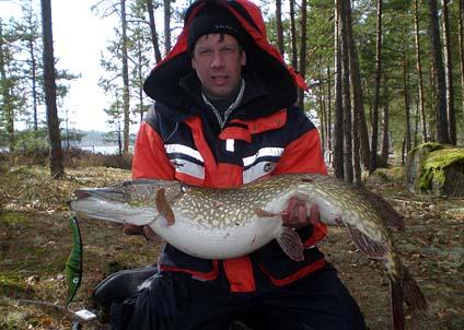 Två gäddor över elva kilo på tre dagars fiske i Vättern är sannerligen ingen dålig utdelning.