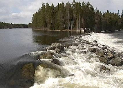 Jämtkraft kan nu tvingas att att riva sin anläggning vid Långforsen. (Foto: SVT)