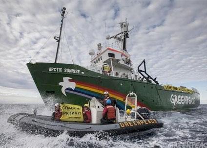 Greenpeace protesterar mot oljeborrning