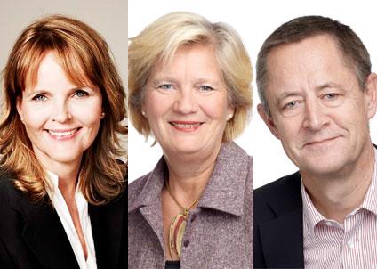 Trion Nina Lundström, Lars Tysklind och Anita Brodén anser att det behövs bättre balans mellan vattenkraft och biologisk mångfald.  (Foto: Peter Knutson)