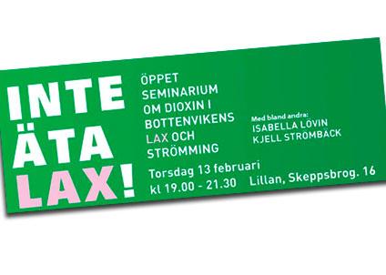 Anföranden, publikfrågor och diskussion om dioxin i vår mat – den 13 februari i Luleå.