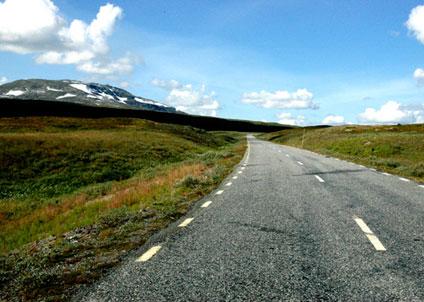 Fjällvägen över Stekenjokk, ett gammalt landskap för rennäringen och för ett litet bestånd av fjällrävar.