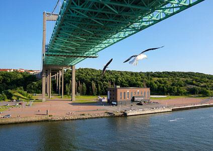 Under Älvsborgsbron har du goda chanser att få havsöring. I mer sällsynta fall, droger och kontanter. (Copyright Marcus Hansson /Creative Commons Attribution ShareAlike 3.0 License )