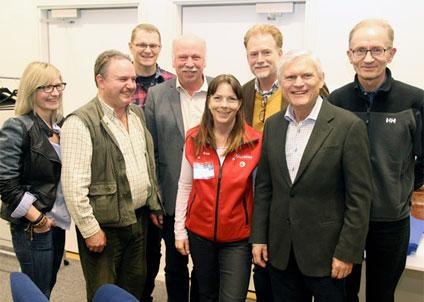 Den nya styrelsen ser fram emot två nya verksamhetsår. (Foto: Bengt Olsson)