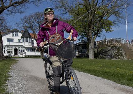 Maria Ålander på Fiskkejournalen är ständigt på jakt efter fiskenyheter. Foto: Mathias Larsson